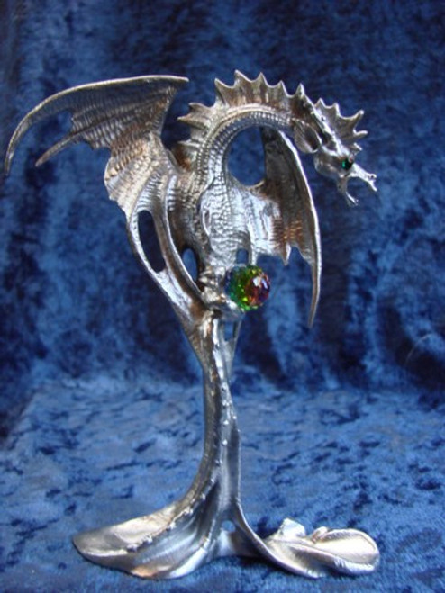 S277, Dragon From The Magic Mist by Perth Pewter, Free Shipping, MSRP ($65.00), S-Series Large Fantasy Pewter Figurine