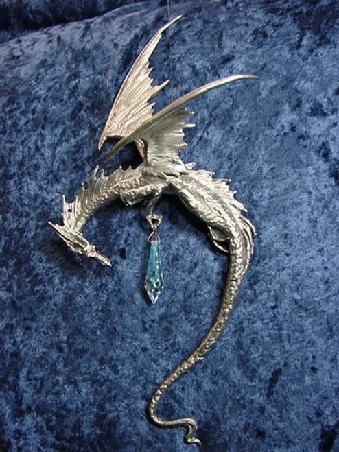 S262, Hanging Dragon Suncatcher by Perth Pewter, Free Shipping, MSRP ($85.00), S-Series Large Fantasy Pewter Figurine