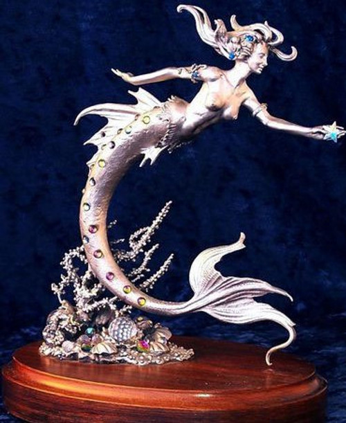 LE11, Mermaid by Perth Pewter, Free Shipping, MSRP ($600.00), Limited Edition Pewter Figurine
