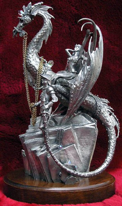 LE21, The Rescue of the Princess by Perth Pewter, Free Shipping, MSRP ($750.00), Limited Edition Pewter Figurine