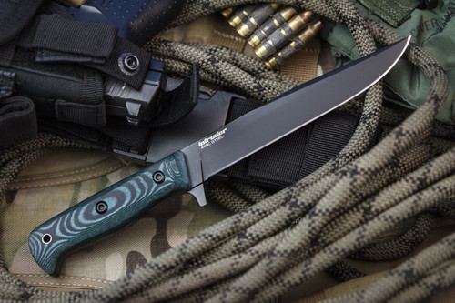 KK0085, Intruder 440C Black Titanium by Kizlyar Supreme Knives, Free Shipping, MSRP ($157.00)