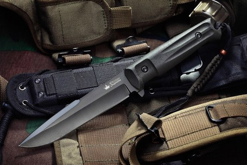 KK0208, Delta D2 with Black Titanium Coating by Kizlyar Supreme Knives, Free Shipping, MSRP ($174.95)