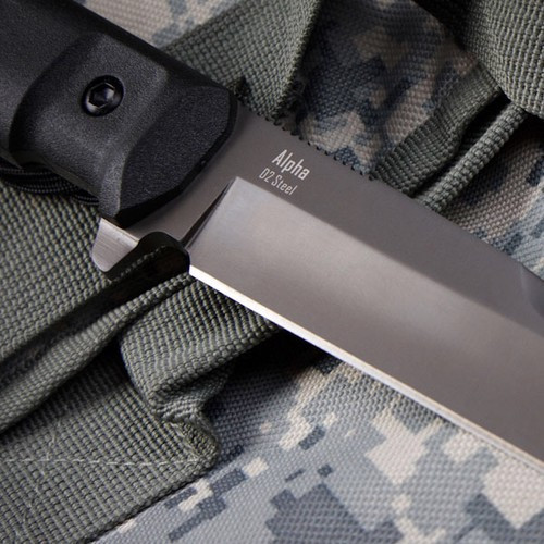 KK0006, Plain Edge by Kizlyar Supreme Knives, Free Shipping, MSRP ($175.00),  Alpha D2 Steel With Gray Titanium