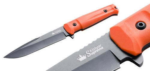 KK0211, Delta D2 Black Titanium with Orange Handle by Kizlyar Supreme Knives, Free Shipping, MSRP ($176.95)