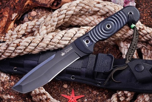KK0222, Vendetta D2 with Black Titanium Coating by Kizlyar Supreme Knives, Free Shipping, MSRP ($167.00)
