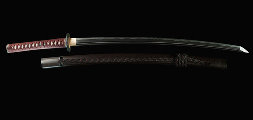 SE3005, Wave Katana T10 w/ Hi by Kaneie Sword Art, Free Shipping, MSRP ($1,400.00),Hand Forged High Carbon Blade Steel