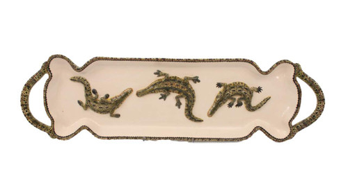 The Ardmore Collection Crocodile Tray by Zawadee, Free Shipping, MSRP ($553.00)