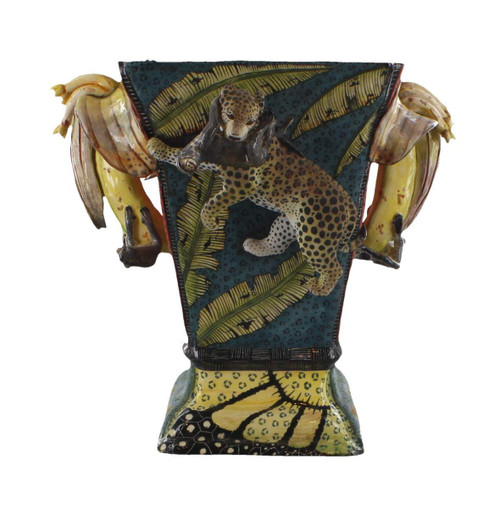 The Ardmore Collection Leopard and Monkey Vase  by Zawadee, Free Shipping, MSRP ($1,622.00)