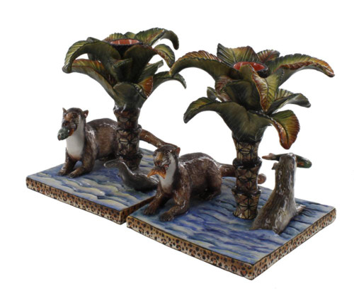 The Ardmore Collection Pair of Otter Candlesticks  by Zawadee, Free Shipping, MSRP ($767.00)