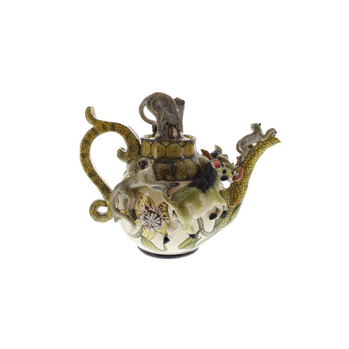 The Ardmore Collection Warthog Monkey Teapot by Zawadee, Free Shipping, MSRP ($754.00)