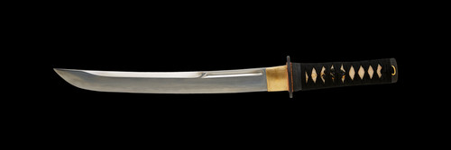 "123016, 12"" Bushi F/F Tri-Steel Tanto in Musashi (Two Tone) by Dynasty Forge, Free Shipping, MSRP ($520.00)"