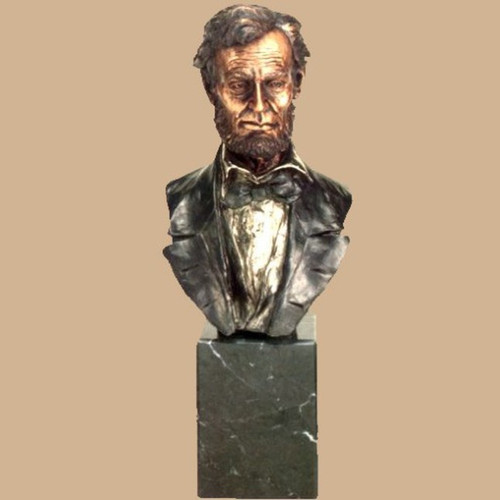 Abraham Lincoln by Frances Barnum-Chilmark, Free Shipping, MSRP ($1,250.00)