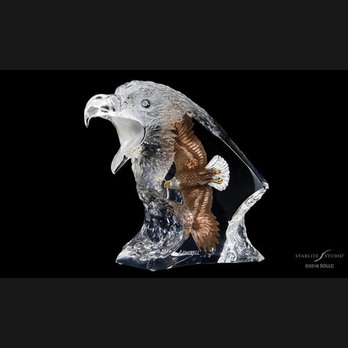 Journey, Eagle by Kitty Cantrell-Lucite Art, Free Shipping, MSRP ($650.00)