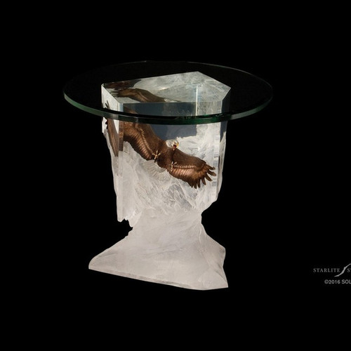 Between Earth & Sky, eagle Table by Christopher Pardell-Lucite Art, Free Shipping, MSRP ($3,900.00)
