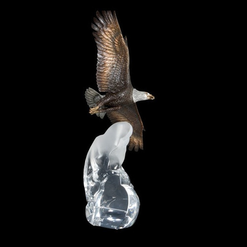 Cloud King, Eagle by Christopher Pardell-Lucite Art, Free Shipping, MSRP ($1,390.00)