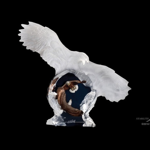 Eagle Spirit by Christopher Pardell-Lucite Art, Free Shipping, MSRP ($650.00)