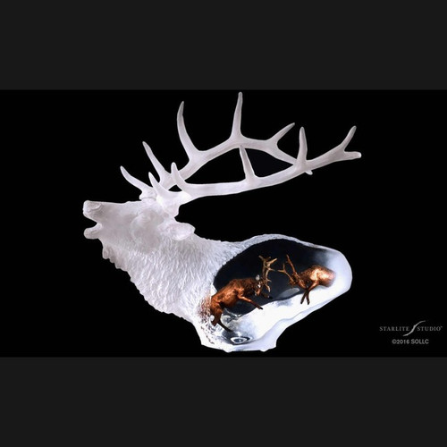 Proud Spirit, Elk by Kitty Cantrell-Lucite Art, Free Shipping, MSRP ($360.00)