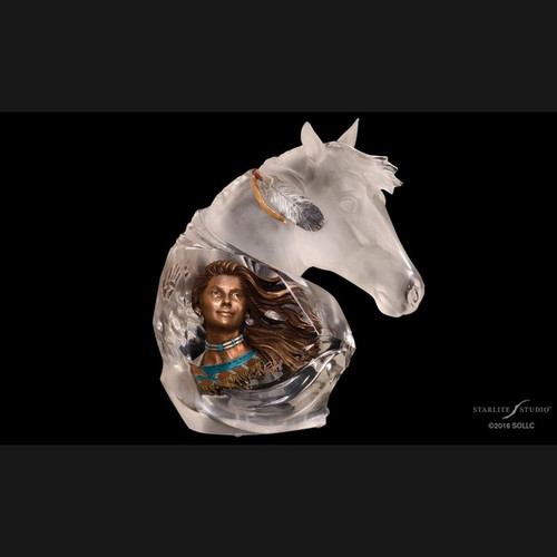 Running Wind, Native American by Christopher Pardell-Lucite Art, Free Shipping, MSRP ($700.00)