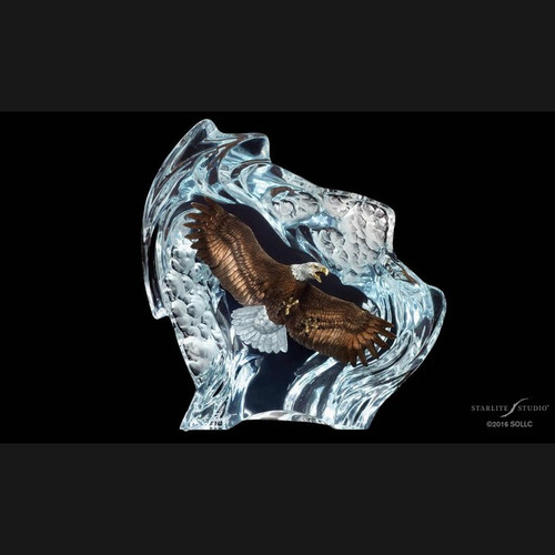 Strength & Honor, Eagle by Christopher Pardell-Lucite Art, Free Shipping, MSRP ($2,590.00)