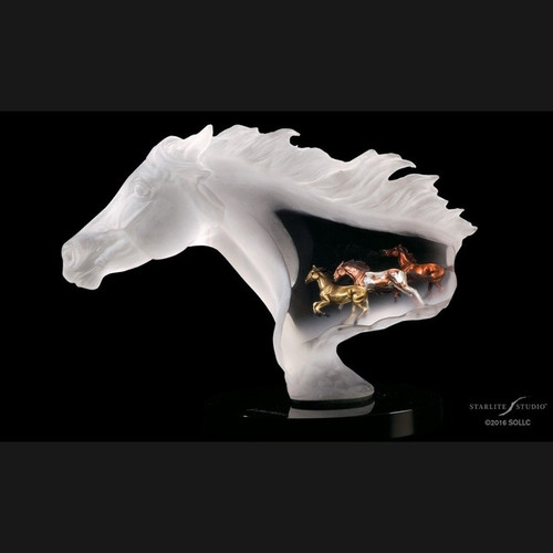 Untamed Spirit, horses by Lucite Art, Free Shipping, MSRP ($700.00)