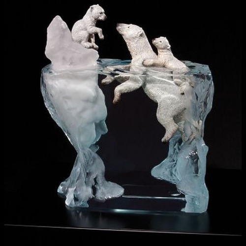 A Mothers Calling, polar bear by Sealife Art, Free Shipping, MSRP ($950.00)