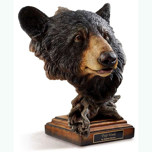 Deep Woods Black Bear, Sculpture by Stephen Herrero-Western Wildlife Art, Free Shipping, MSRP ($200.00)