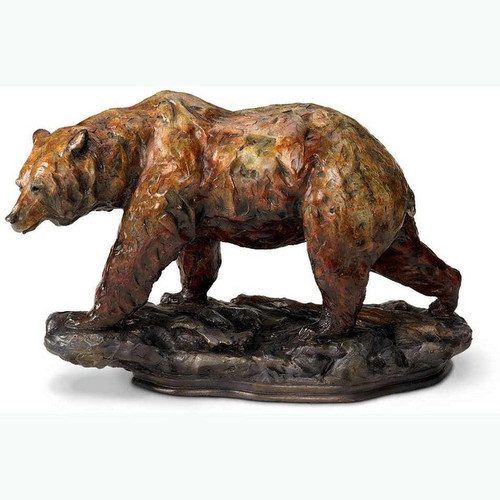 One Step—Grizzly Bear, Sculpture by Danny Edwards-Western Wildlife Art, Free Shipping, MSRP ($130.00)
