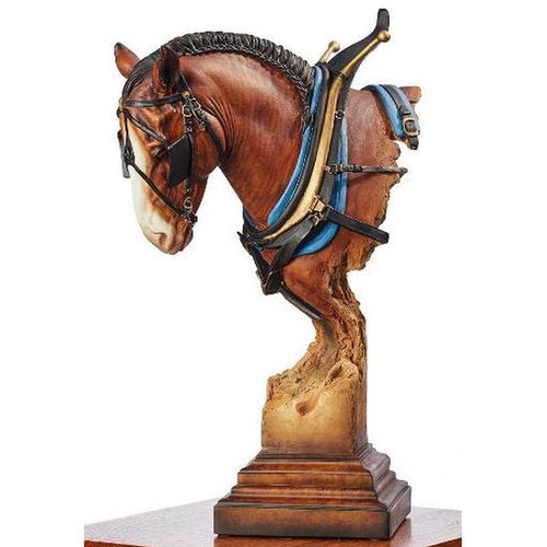 A Light Burden, Clydesdale Sculpture by Western Wildlife Art, Free Shipping, MSRP ($250.00)
