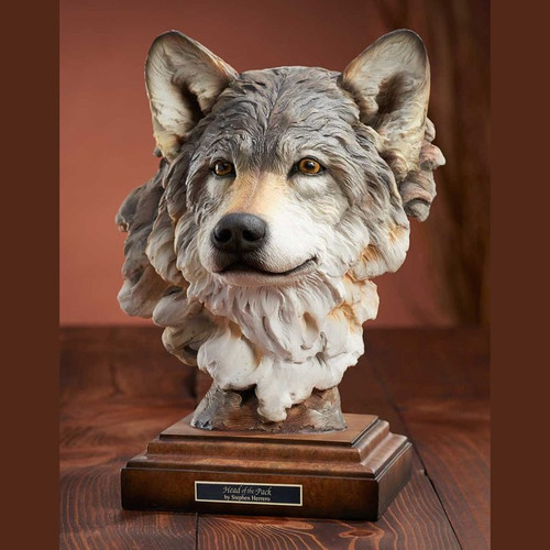 Head of the Pack, Wolf Sculpture by Western Wildlife Art, Free Shipping, MSRP ($170.00)