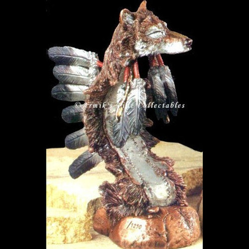 Kindred, Wolves Sculpture by Stephen Herrero-Western Wildlife Art, Free Shipping, MSRP ($220.00)