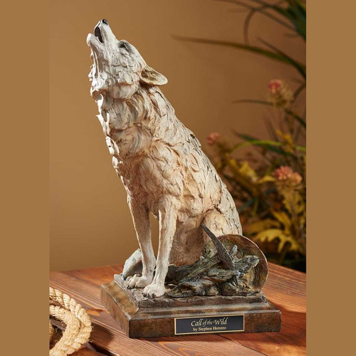 Call of the Wild, Howling Wolf Sculpture by Stephen Herrero - Western Wildlife Art, Free Shipping, MSRP ($170.00)