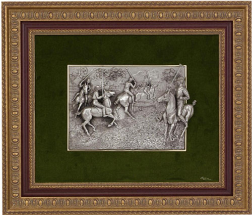 Pewter frame polo SPS 552 by Les Estain Du Prince, Free Shipping, MSRP(580.32)