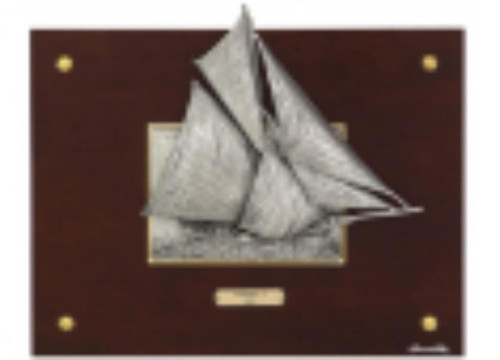 Pewter frame sailing boat TAN 502 by Les Estain Du Prince, Free Shipping, MSRP(280.8)