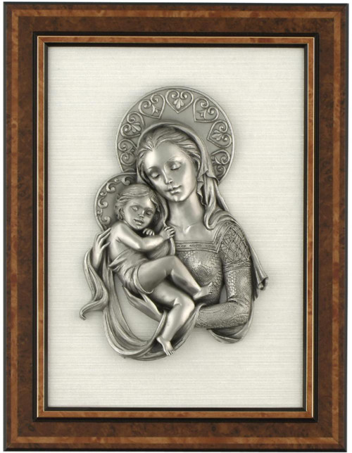 Pewter frame virgin FA 108 by Les Estain Du Prince, Free Shipping, MSRP(215.74)