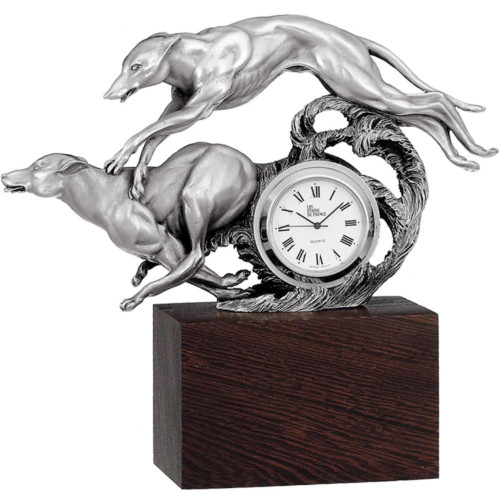 Pewter clock HO 4 by Les Estain Du Prince, Free Shipping, MSRP(181.35)