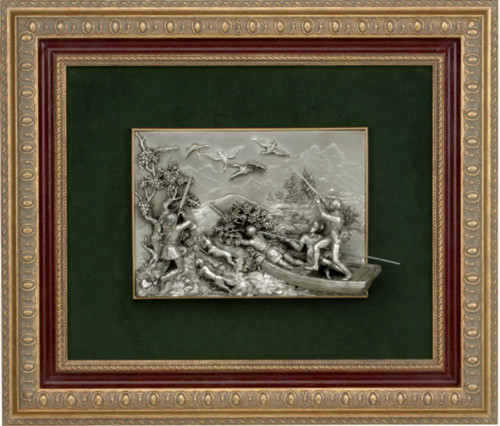 Pewter frame hunters SPS 551 by Les Estain Du Prince, Free Shipping, MSRP(632.82)