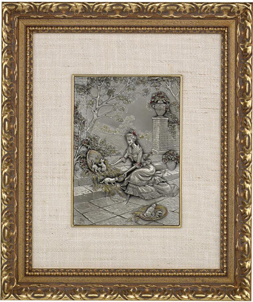 Pewter frame DM 390 by Les Estain Du Prince, Free Shipping, MSRP(482.04)