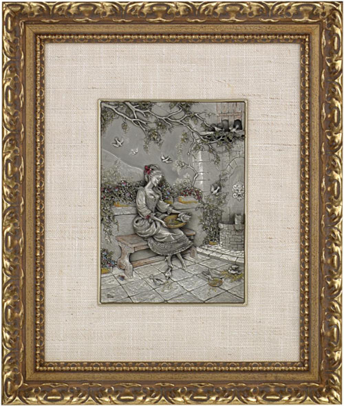 Pewter frame DM 391 by Les Estain Du Prince, Free Shipping, MSRP(482.04)
