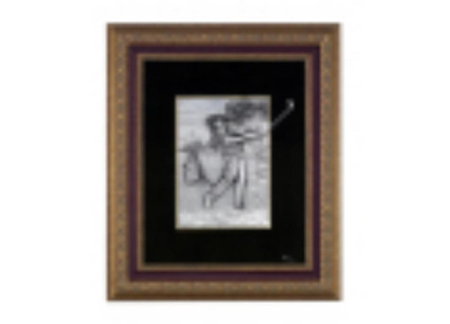 Pewter frame of Golf by Les Estain Du Prince, Free Shipping, MSRP(552.59)