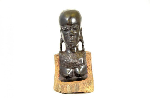 Beautiful Masaai Woman handcarved from Ebony by Zawadee, Free Shipping, MSRP ($455.99)