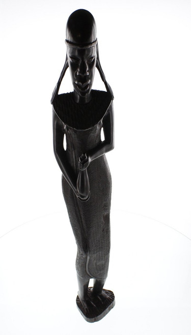 Makonde Woman with Gourd by Zawadee, Free Shipping, MSRP ($227.99)