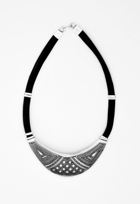 Crescent Collar with Triangular Motif by Zawadee, Free Shipping, MSRP ($309.99)