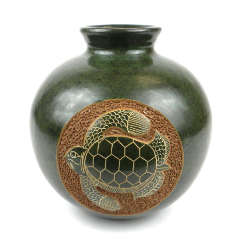 6 inch Tall Vase - Turtle by Zawadee, Free Shipping, MSRP ($59.99)