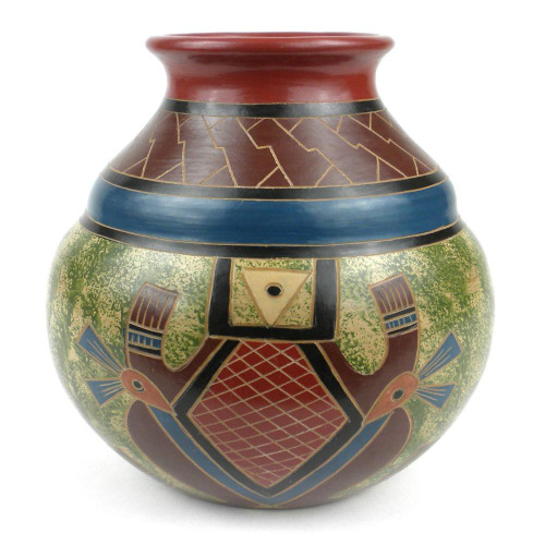 7 inch Tall Vase - Abstract by Zawadee, Free Shipping, MSRP ($69.99)