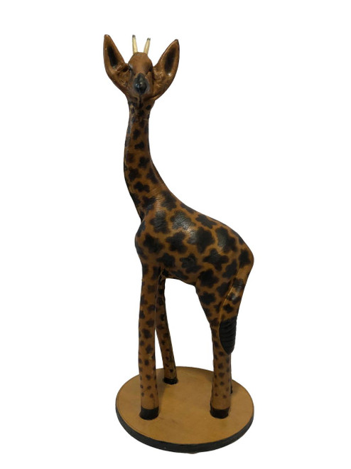 Hand Made Leather Giraffe 23 in by Zawadee, Free Shipping, MSRP ($167.99)