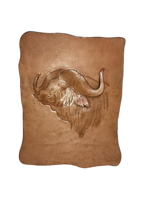 Leather African Buffalo Wall Hanging by Zawadee, Free Shipping, MSRP ($184.99)