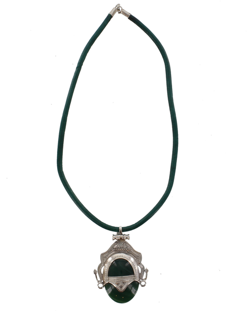 TIZEMT, Semi-Precious Stone & Silver Necklace, Finely Etched by The Azel Collection