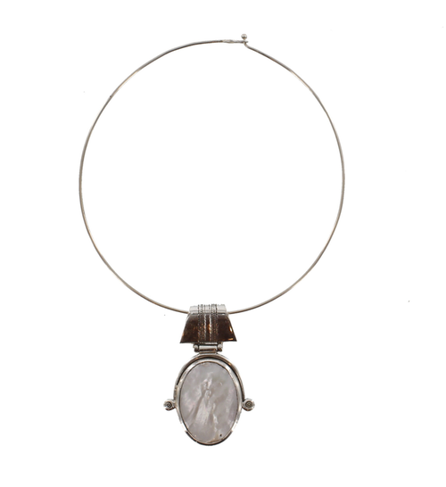 AMENZU, Silver & Semi-Precious Stone Pendant by The Azel Collection Free Shipping, MSRP($186.99)