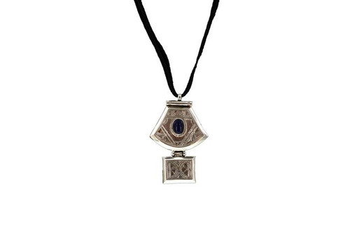 AGHILAS by The Azel Collection, Semi-Precious Turquoise Stone & Silver Pendant, Free Shipping, MSRP($149.99)