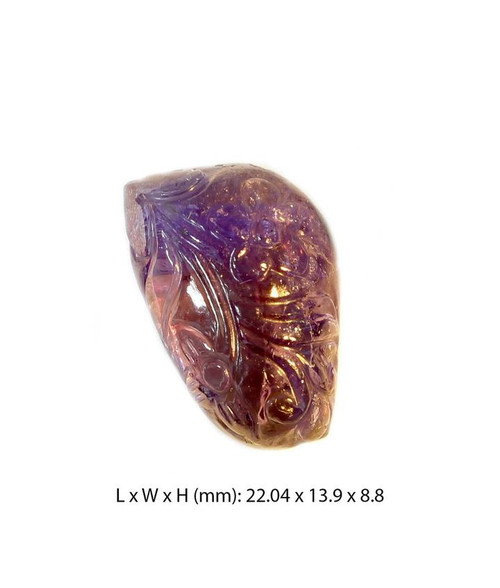 22.6 carat Natural Fancy Shape Certified Carved Tanzanite Gemstone, Free Shipping, MSRP($144.99)